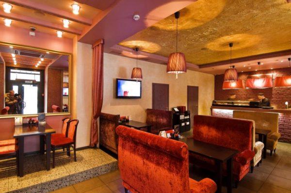 Суши бар в красном цвете