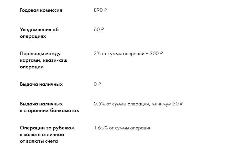 Процентная ставка карты Наличная от Райффайзенбанка