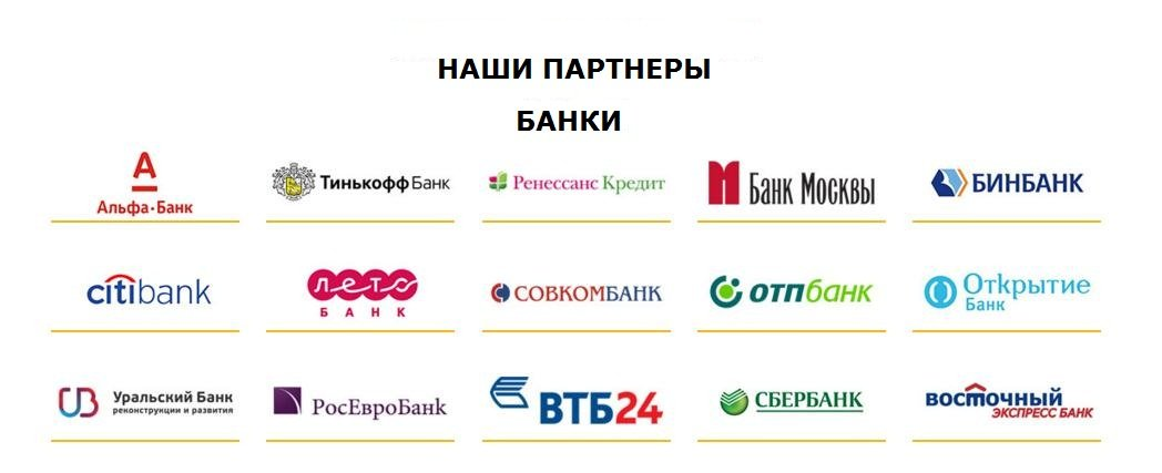 Банкоматы-партнёры банка Тинькофф