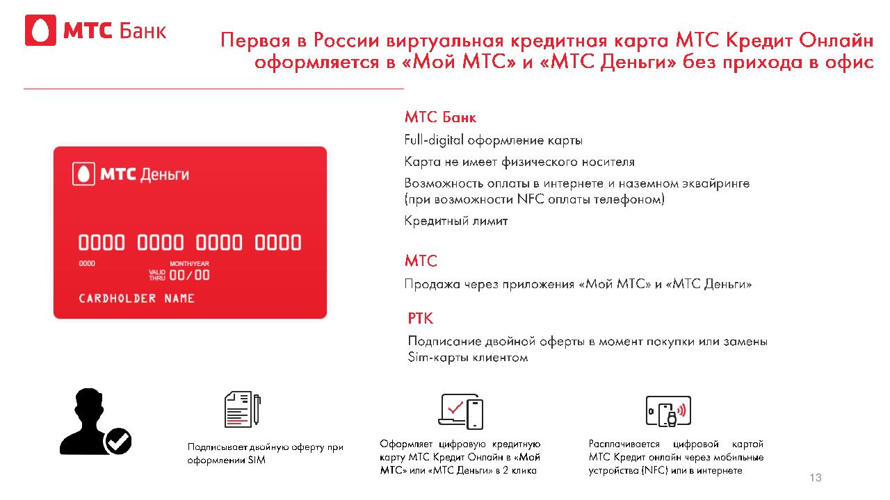 Виртуальная карта MTS Bank