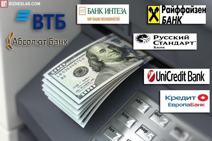 Банкоматы для снятия долларов