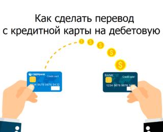 Как сделать перевод с кредитной карты на дебетовую