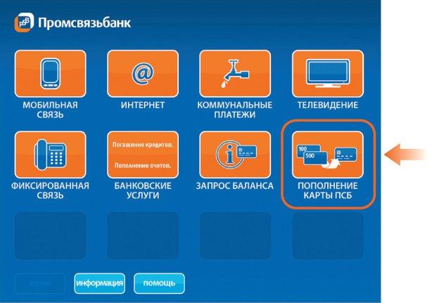 Перевод денег с карты на карту Промсвязьбанк