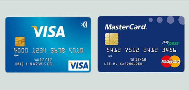 VISA Classic и Masterсard Standard карты