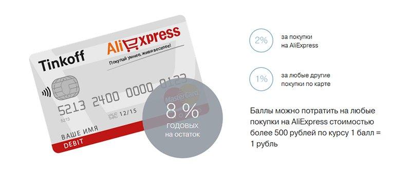 AliExpress Тинькофф карта