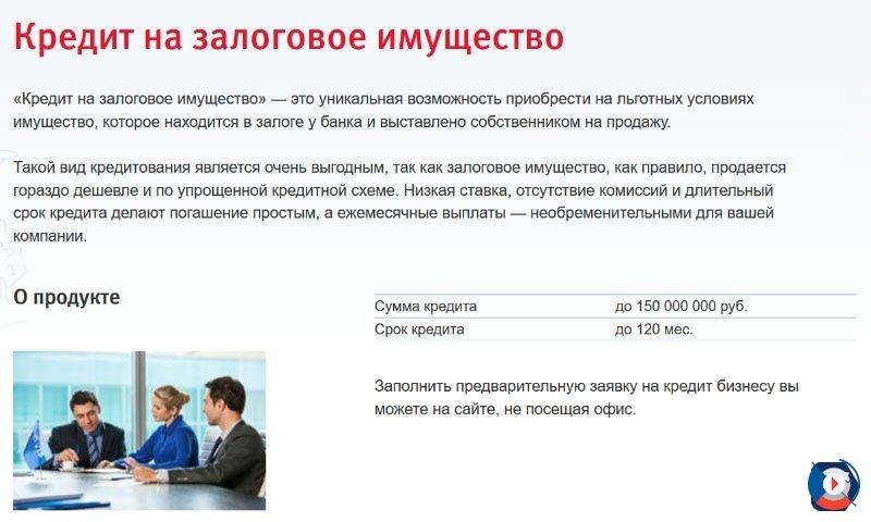 Кредит Залоговое имущество