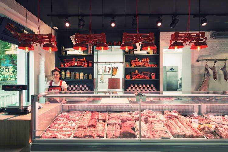 Мясной магазин внутри