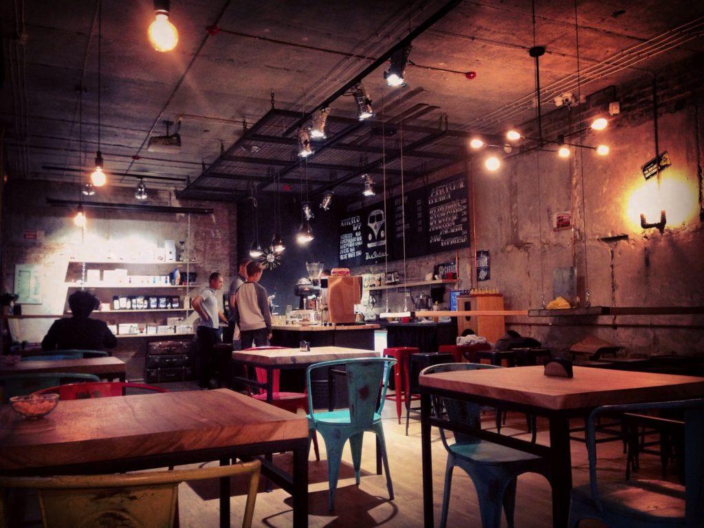 Кофейня в стиле андерграунд