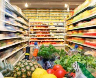 Телега с овощами