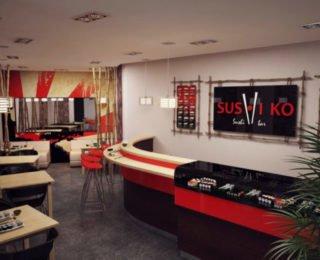 Суши бар дизайн