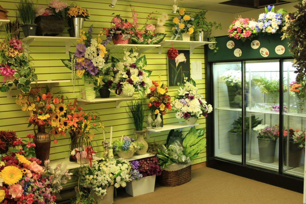 Магазин цветов внутри